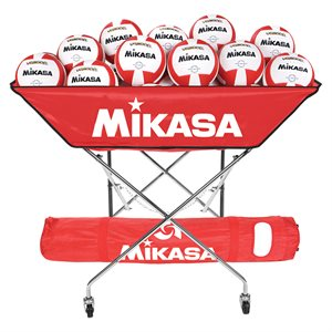 Chariot pliable Mikasa style hamac, rouge