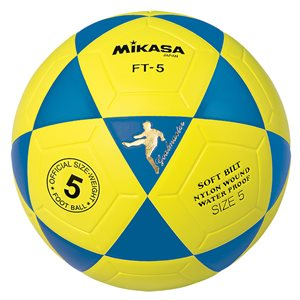 Ballon officiel de footvolley, #5, bleu / jaune