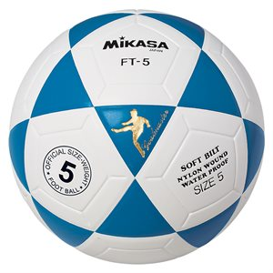 Ballon officiel de footvolley, #5, bleu / blanc