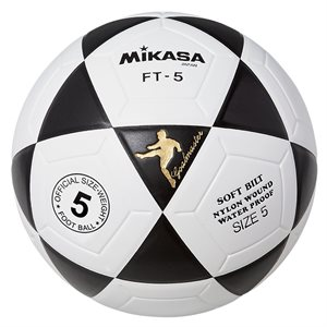 Ballon officiel de footvolley, #5, noir / blanc