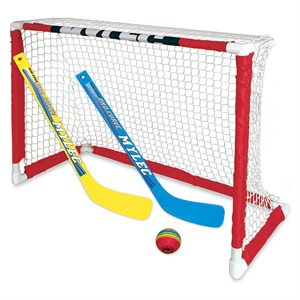 Ens. de mini-hockey, 1 but, 2 bâtons et 1 balle