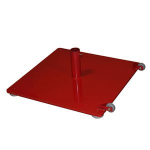 "Base de badminton portable, 24""x24"""