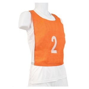 Ensemble de 15 dossards pour enfants, orange