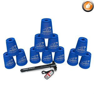 Ens. de 12 gobelets Speed Stacks, bleus