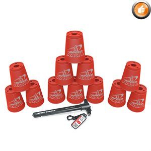 Ens. de 12 gobelets Speed Stacks, rouges